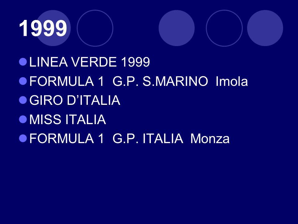 1999 LINEA VERDE 1999 FORMULA 1 G.P. S.MARINO Imola GIRO D'ITALIA