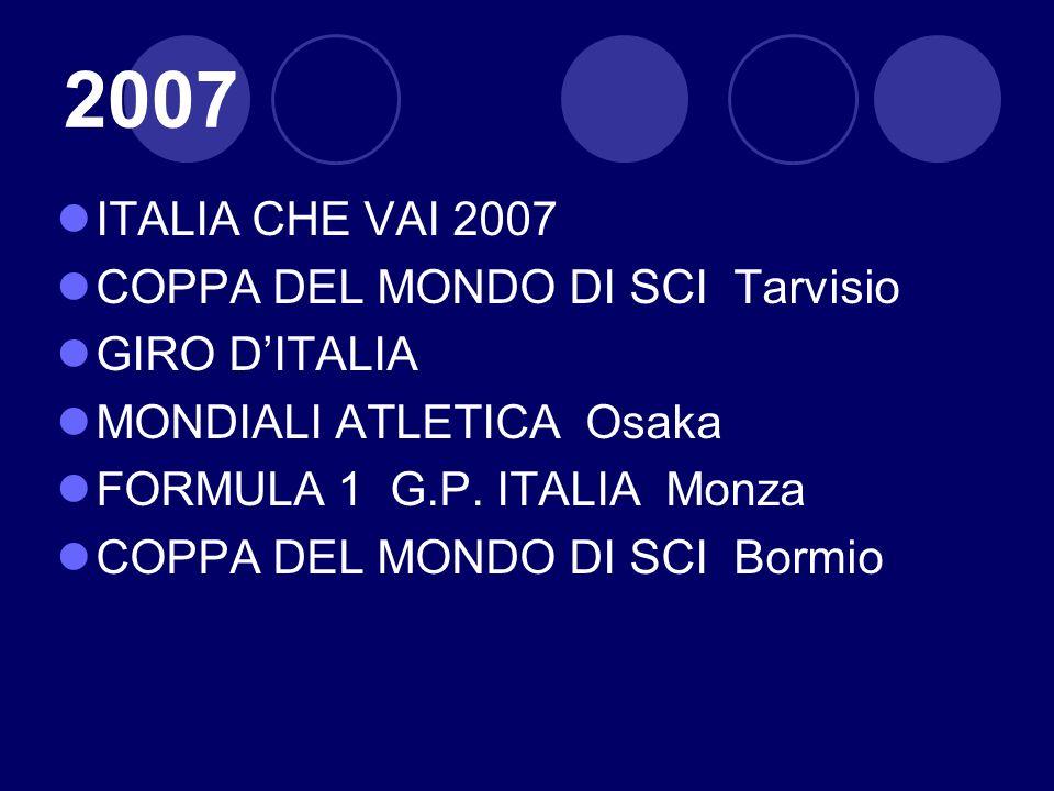 2007 ITALIA CHE VAI 2007 COPPA DEL MONDO DI SCI Tarvisio GIRO D'ITALIA