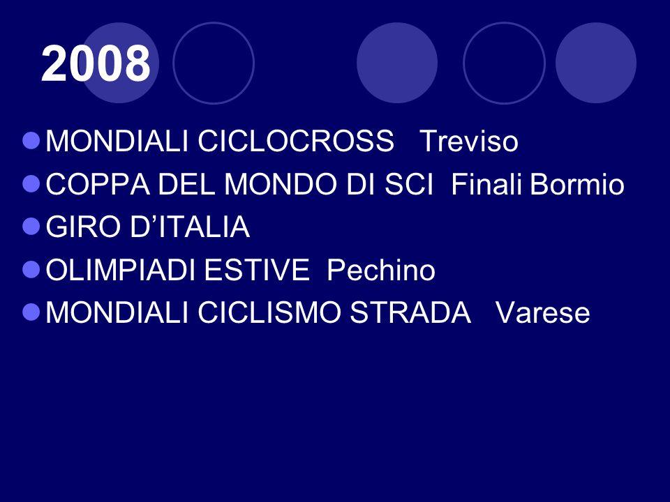2008 MONDIALI CICLOCROSS Treviso COPPA DEL MONDO DI SCI Finali Bormio