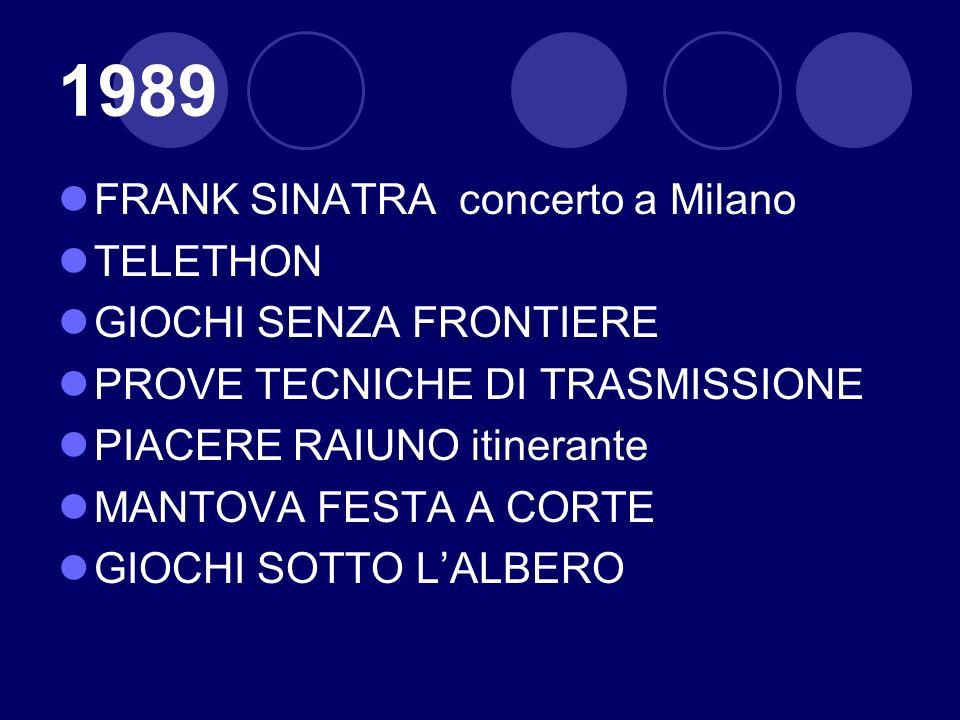 1989 FRANK SINATRA concerto a Milano TELETHON GIOCHI SENZA FRONTIERE