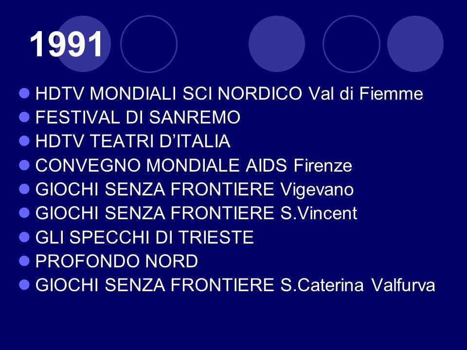 1991 HDTV MONDIALI SCI NORDICO Val di Fiemme FESTIVAL DI SANREMO