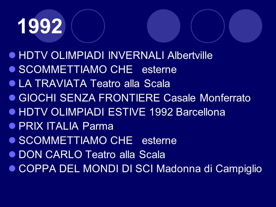 1992 HDTV OLIMPIADI INVERNALI Albertville SCOMMETTIAMO CHE esterne