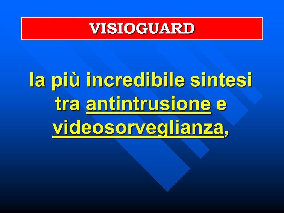 la più incredibile sintesi tra antintrusione e videosorveglianza,