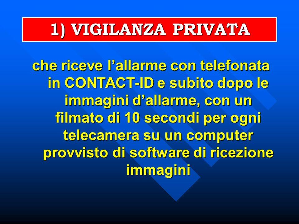 1) VIGILANZA PRIVATA