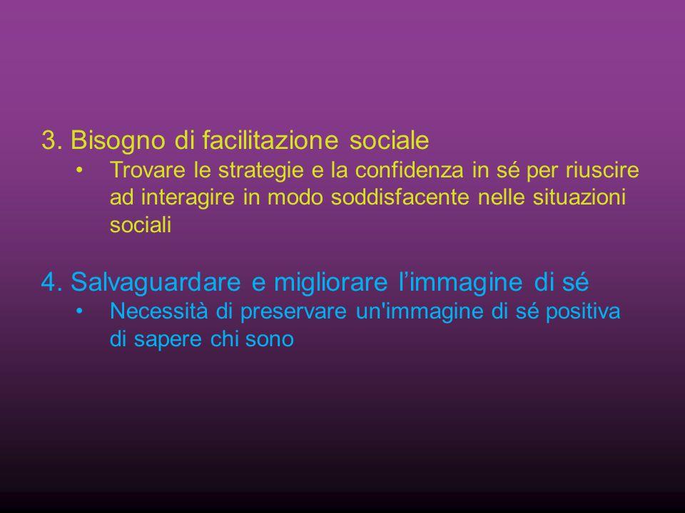 3. Bisogno di facilitazione sociale