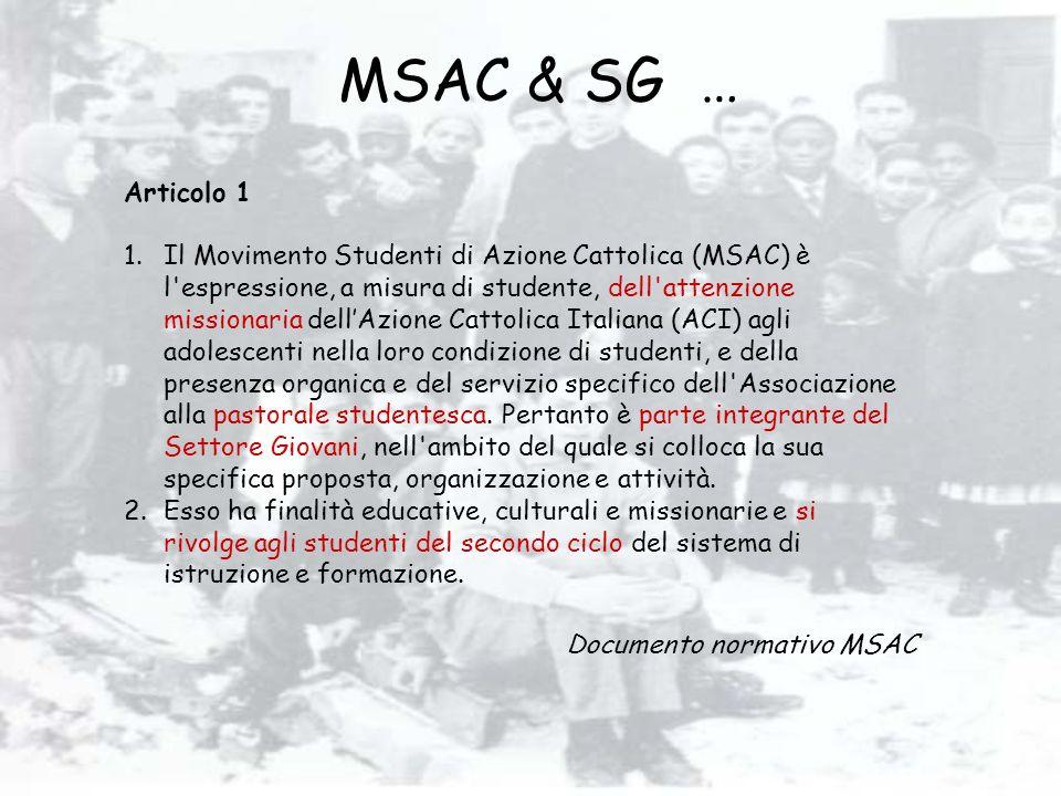 MSAC & SG … Articolo 1.