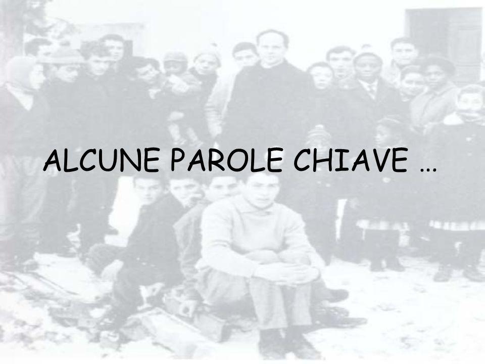 ALCUNE PAROLE CHIAVE …