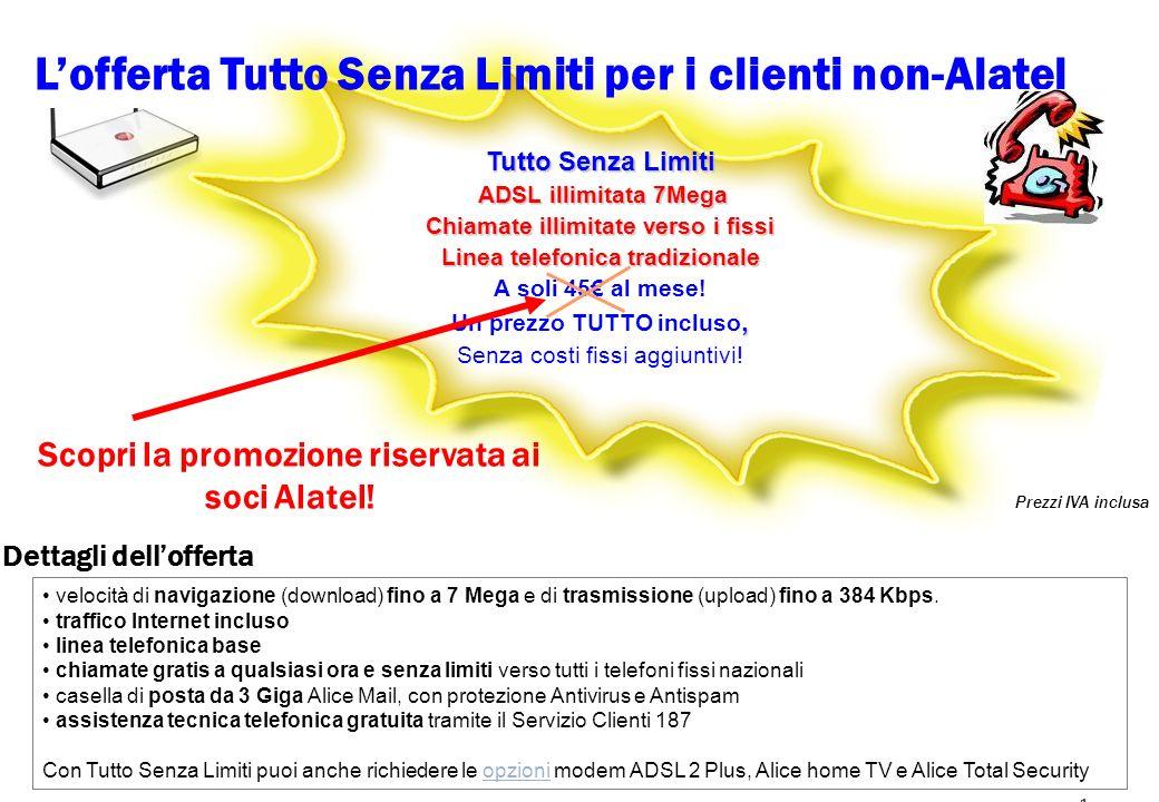 L'offerta Tutto Senza Limiti per i clienti non-Alatel