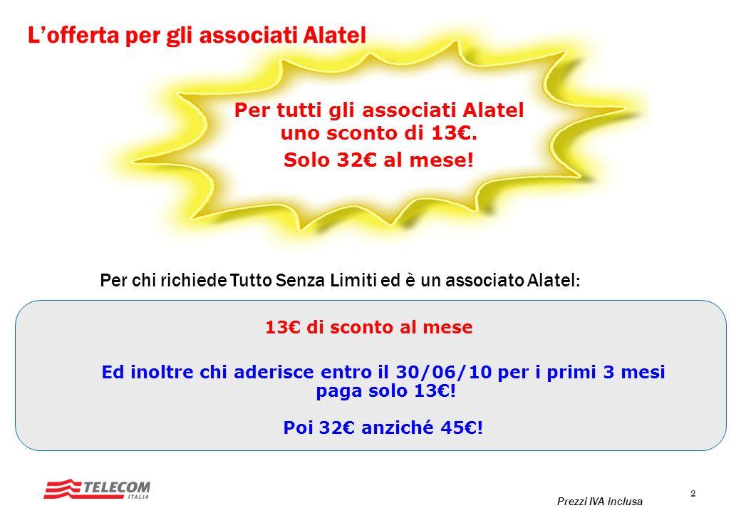 L'offerta per gli associati Alatel