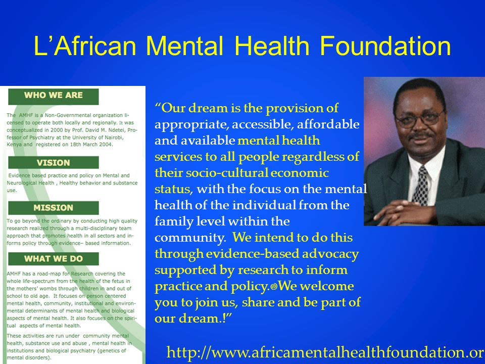 L'African Mental Health Foundation
