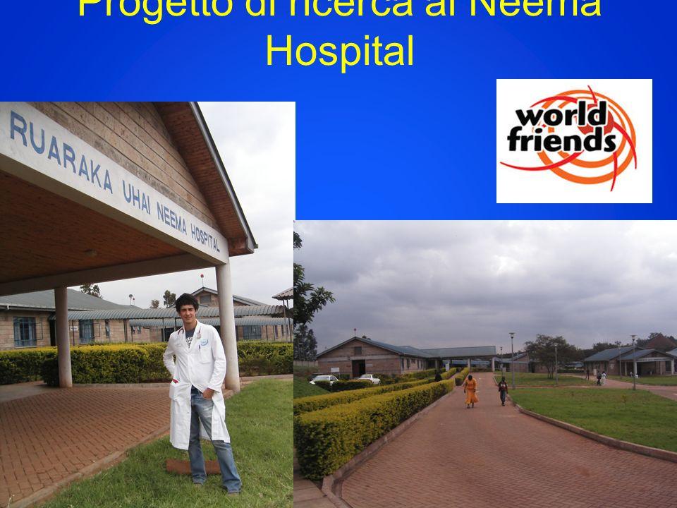 Progetto di ricerca al Neema Hospital