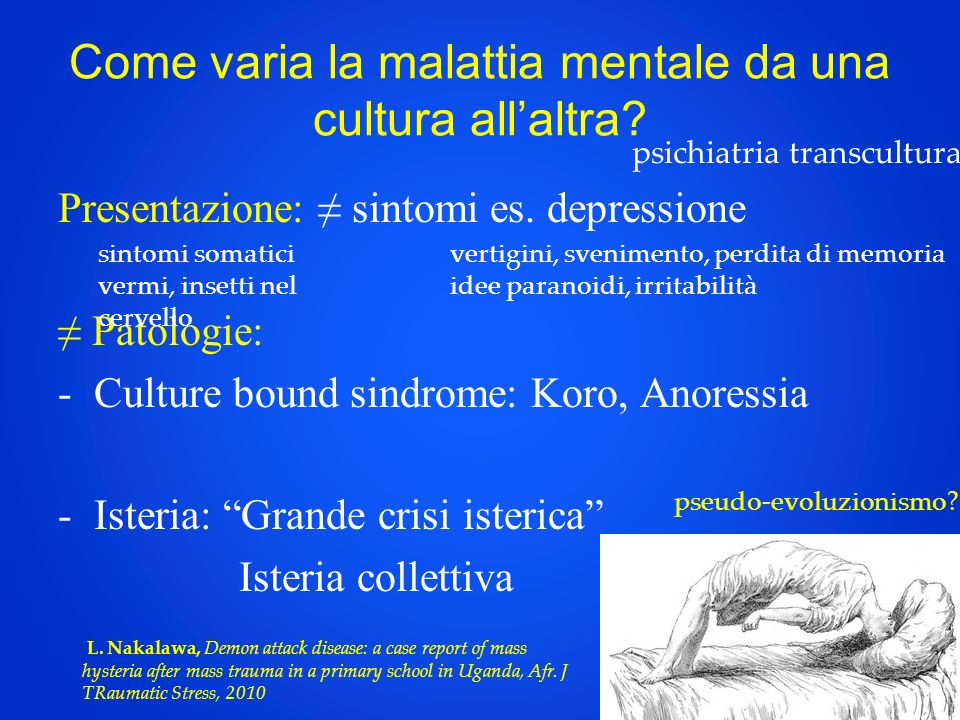 Come varia la malattia mentale da una cultura all'altra