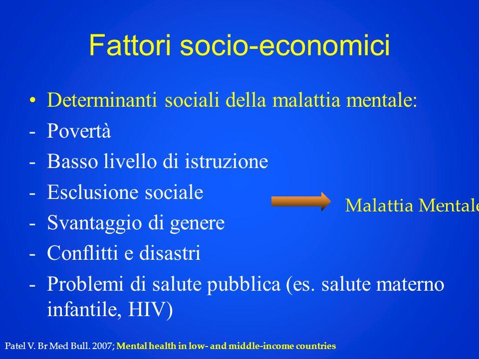 Fattori socio-economici