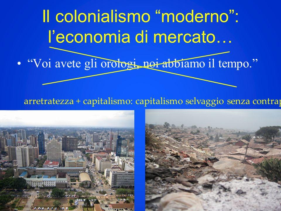 Il colonialismo moderno : l'economia di mercato…