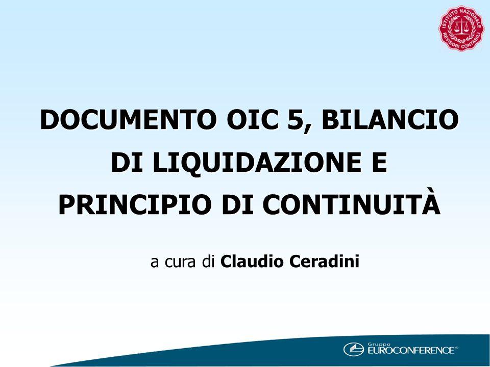 DOCUMENTO OIC 5, BILANCIO DI LIQUIDAZIONE E PRINCIPIO DI CONTINUITÀ