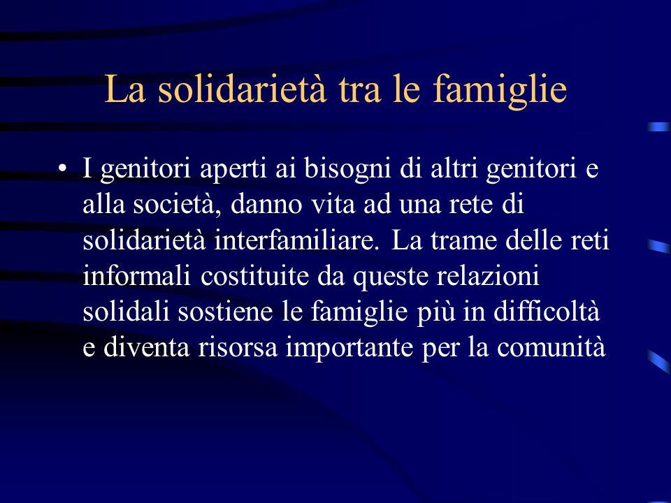 La solidarietà tra le famiglie