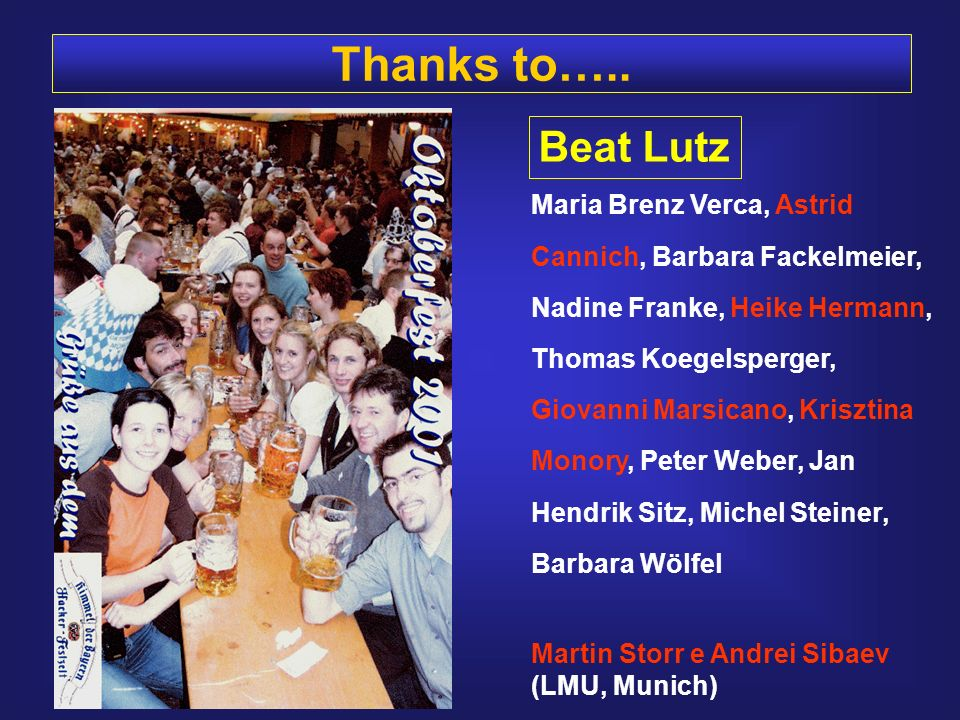 Thanks to….. Beat Lutz.