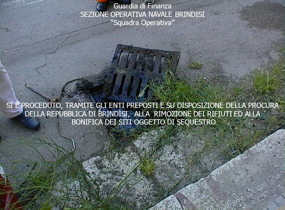 SEZIONE OPERATIVA NAVALE BRINDISI Squadra Operativa