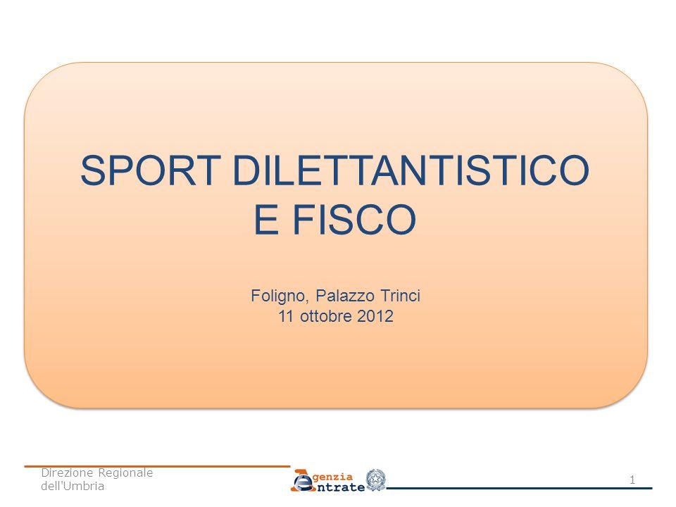 SPORT DILETTANTISTICO E FISCO
