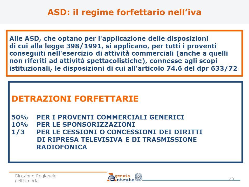 ASD: il regime forfettario nell'iva