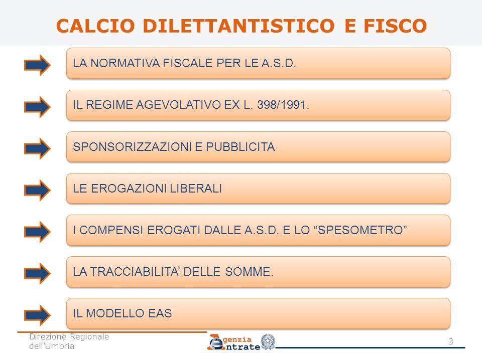 CALCIO DILETTANTISTICO E FISCO