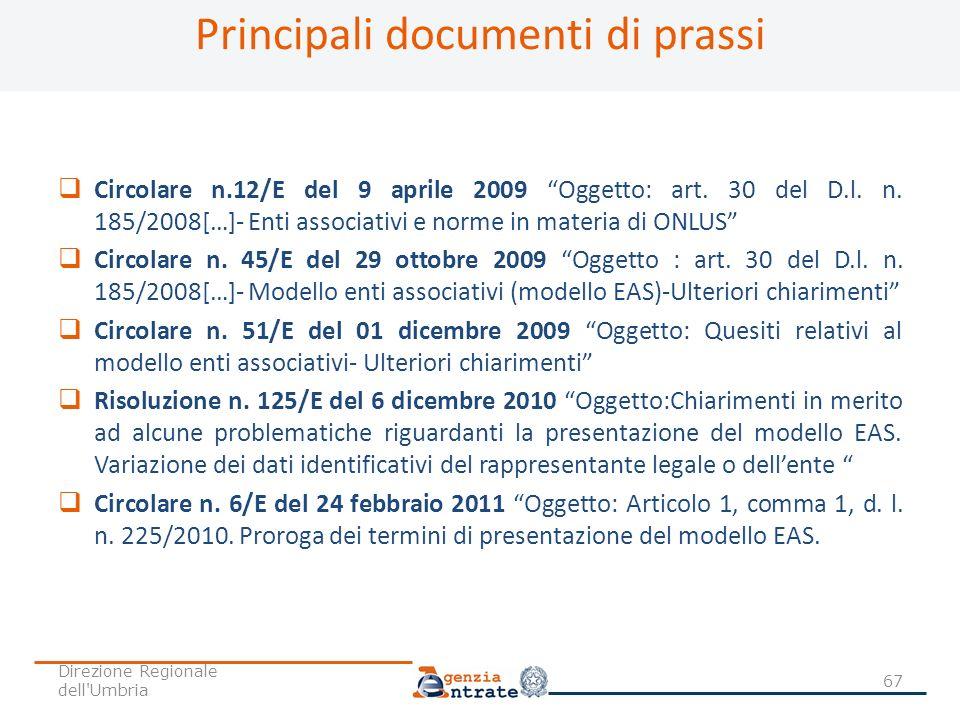 Principali documenti di prassi
