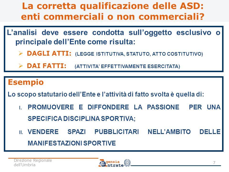 La corretta qualificazione delle ASD: