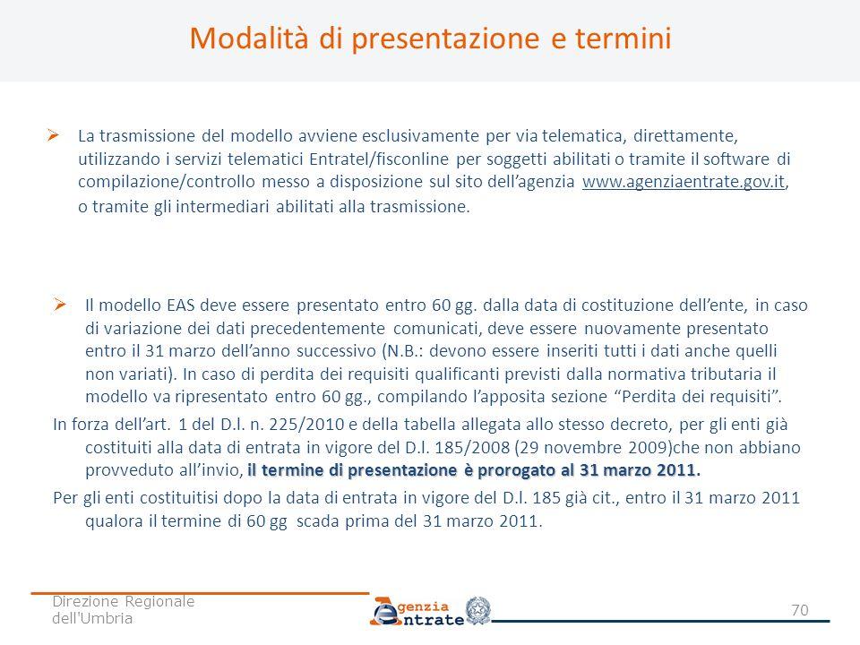 Modalità di presentazione e termini