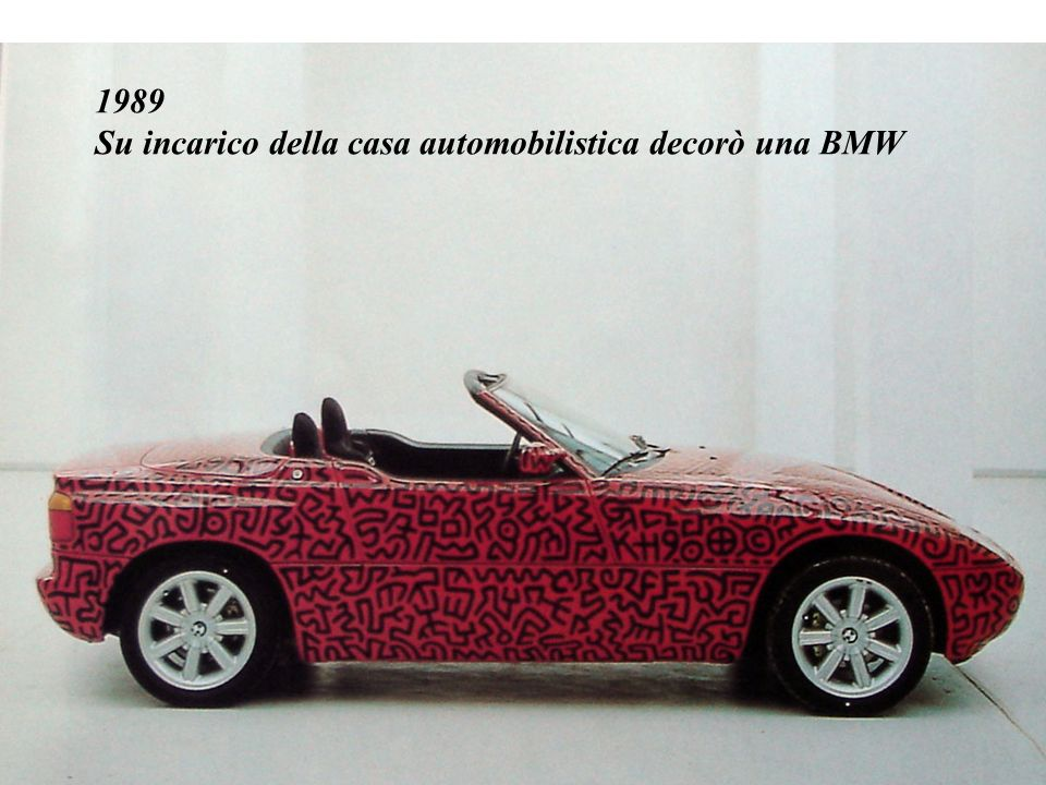 1989 Su incarico della casa automobilistica decorò una BMW