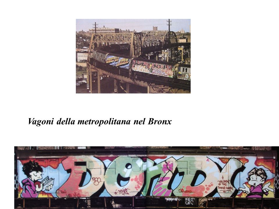 Vagoni della metropolitana nel Bronx