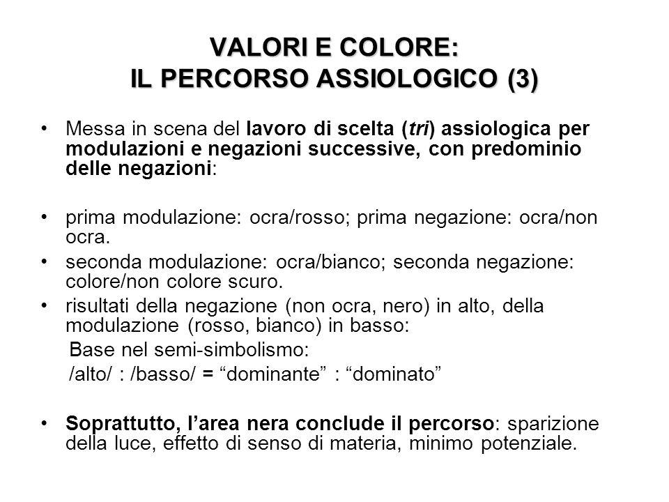 VALORI E COLORE: IL PERCORSO ASSIOLOGICO (3)