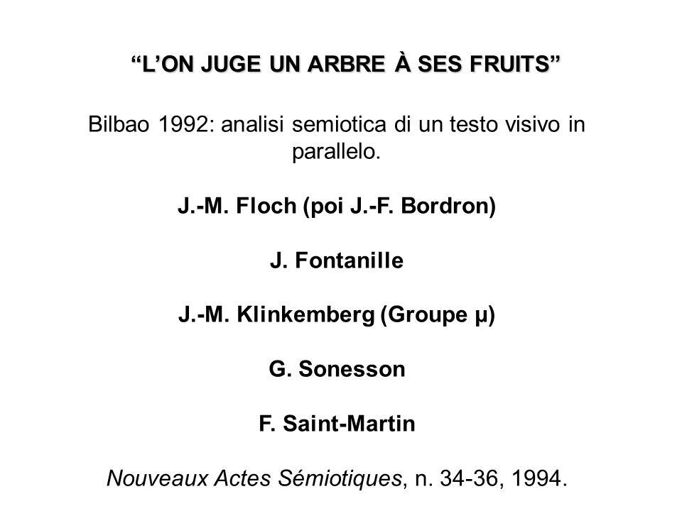L'ON JUGE UN ARBRE À SES FRUITS J.-M. Klinkemberg (Groupe μ)