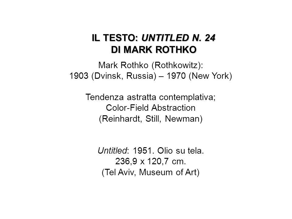 IL TESTO: UNTITLED N. 24 DI MARK ROTHKO