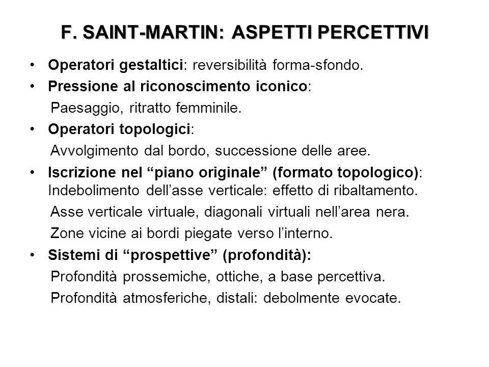 F. SAINT-MARTIN: ASPETTI PERCETTIVI