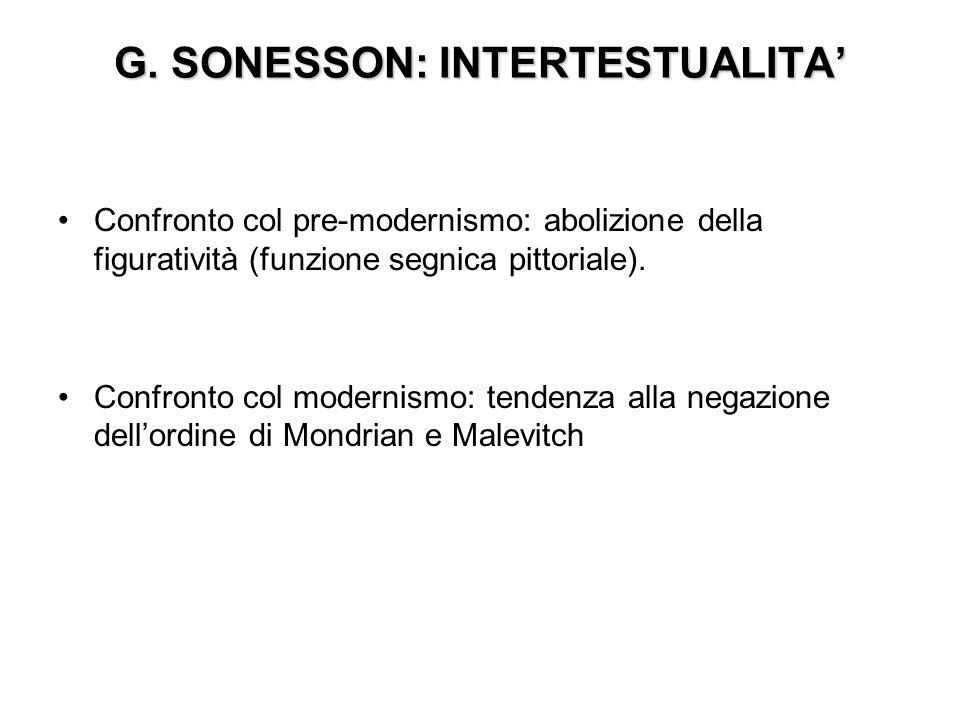 G. SONESSON: INTERTESTUALITA'