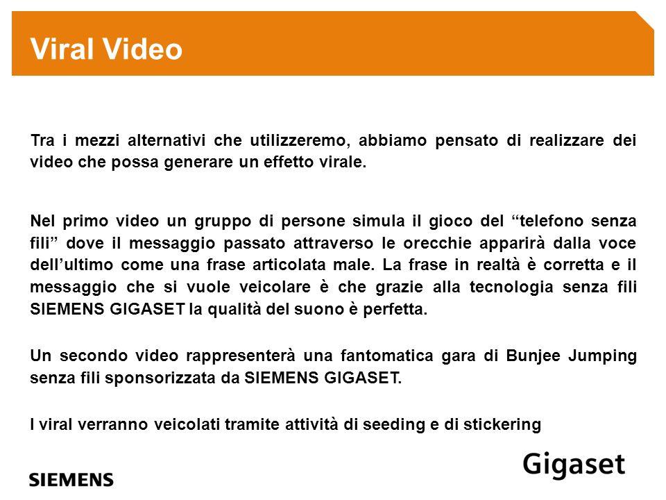 Viral Video Tra i mezzi alternativi che utilizzeremo, abbiamo pensato di realizzare dei video che possa generare un effetto virale.