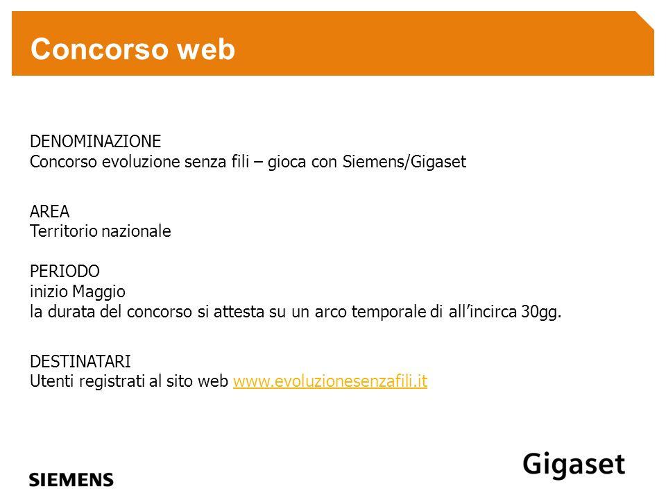 Concorso web DENOMINAZIONE Concorso evoluzione senza fili – gioca con Siemens/Gigaset.