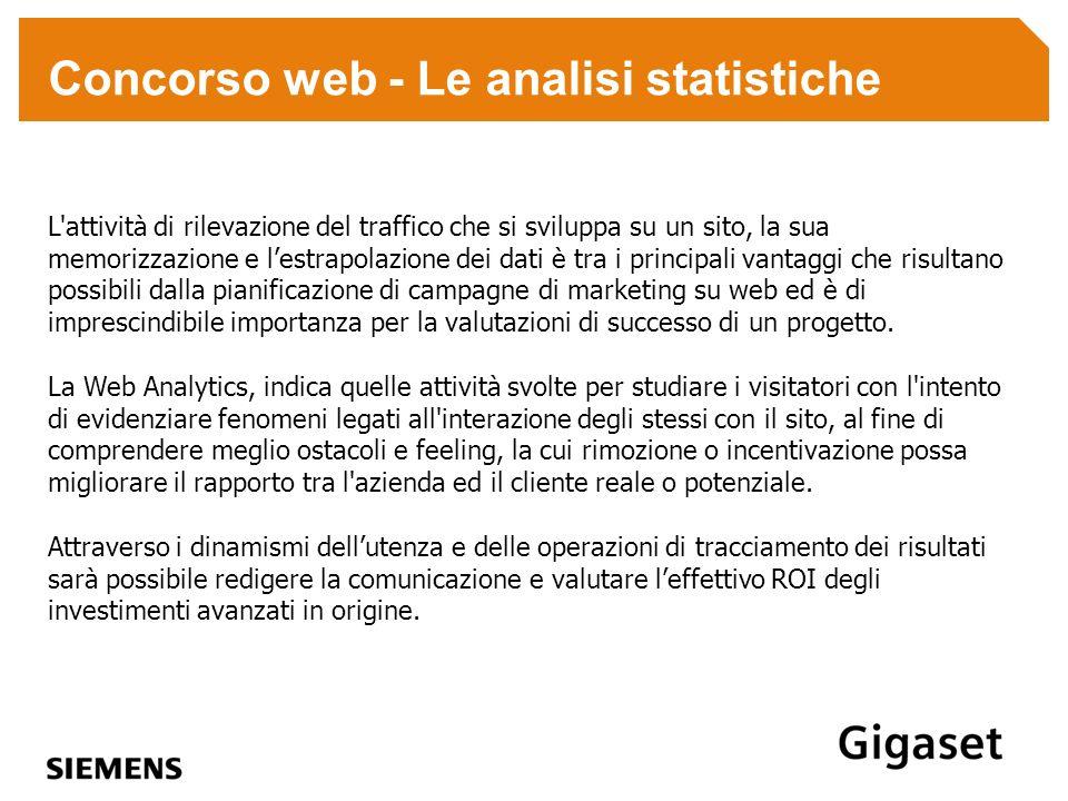 Concorso web - Le analisi statistiche