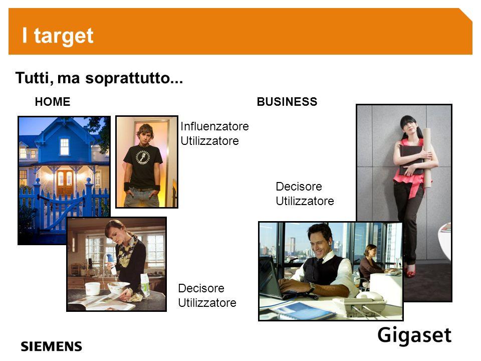 I target Tutti, ma soprattutto... HOME BUSINESS Influenzatore