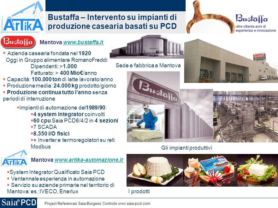 Bustaffa – Intervento su impianti di produzione casearia basati su PCD