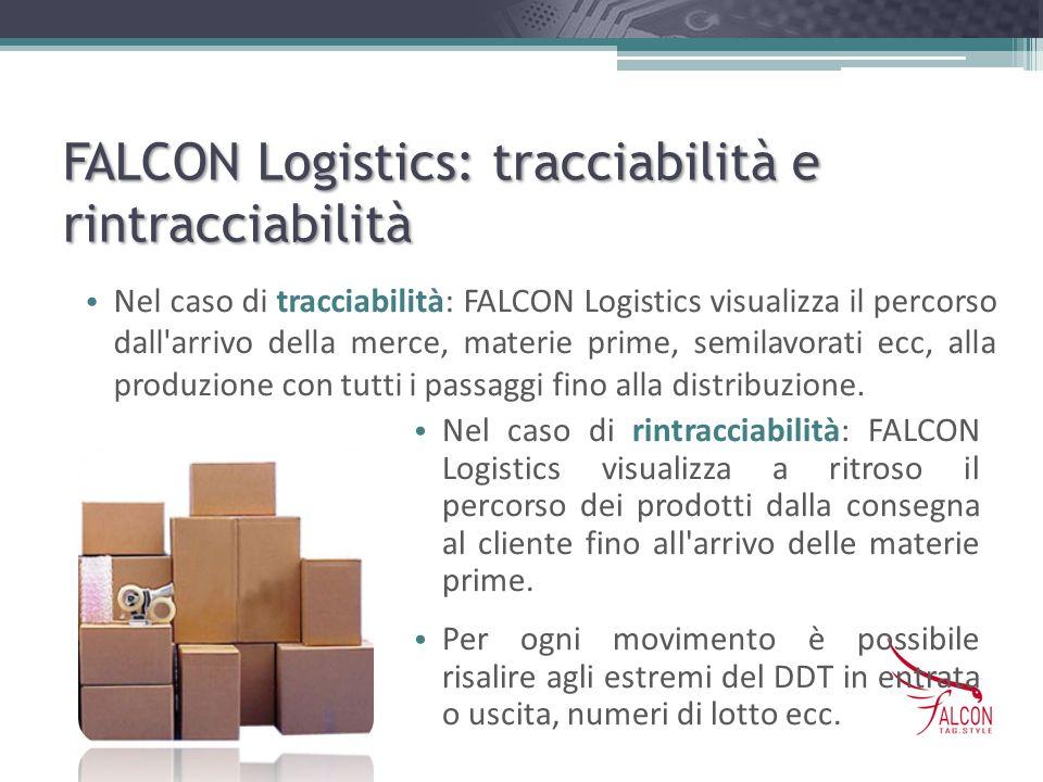 FALCON Logistics: tracciabilità e rintracciabilità