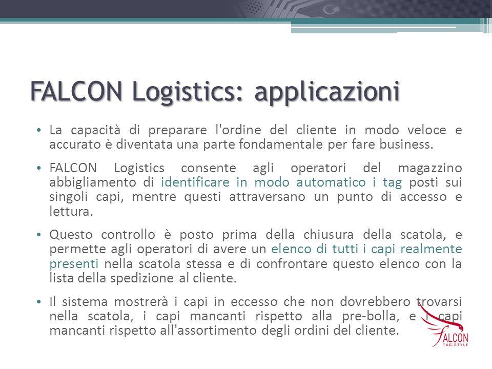 FALCON Logistics: applicazioni