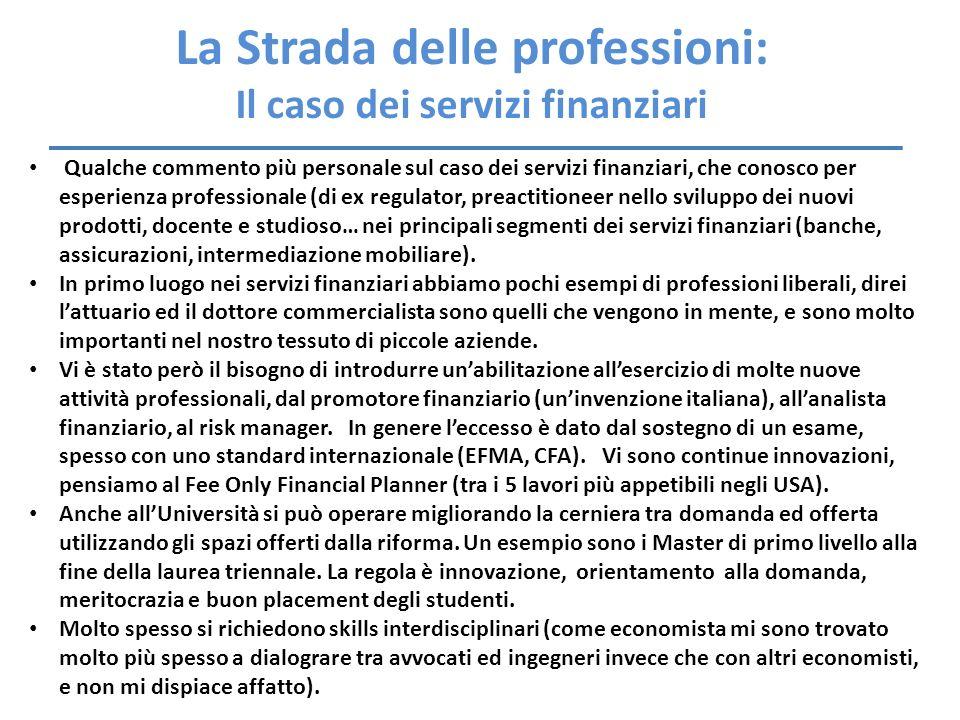 La Strada delle professioni: Il caso dei servizi finanziari
