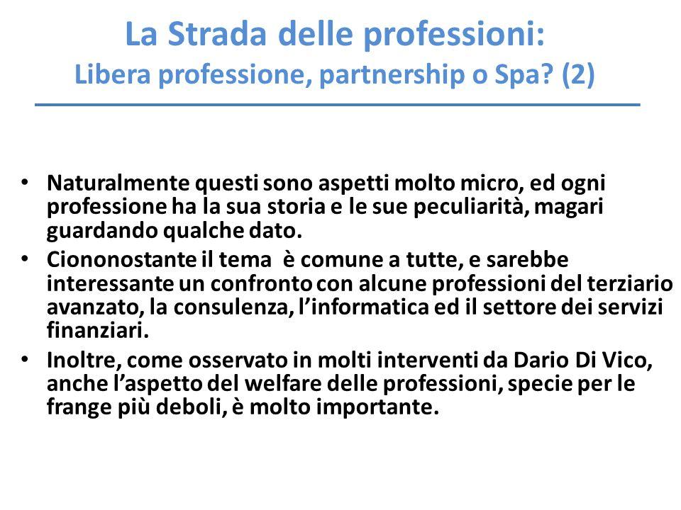La Strada delle professioni: Libera professione, partnership o Spa (2)