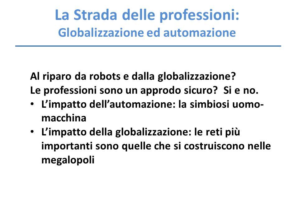 La Strada delle professioni: Globalizzazione ed automazione
