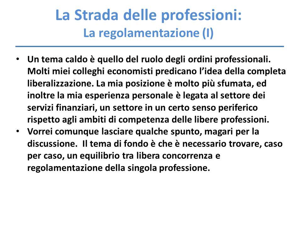 La Strada delle professioni: La regolamentazione (I)