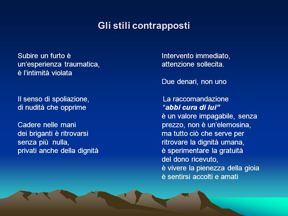 Gli stili contrapposti