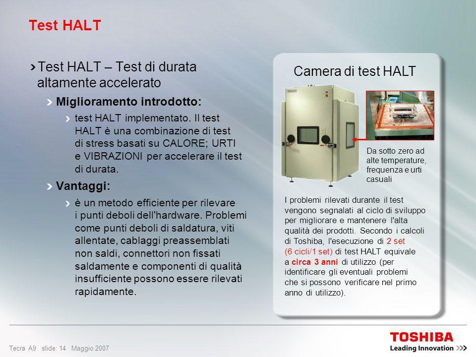 Test HALT Test HALT – Test di durata altamente accelerato