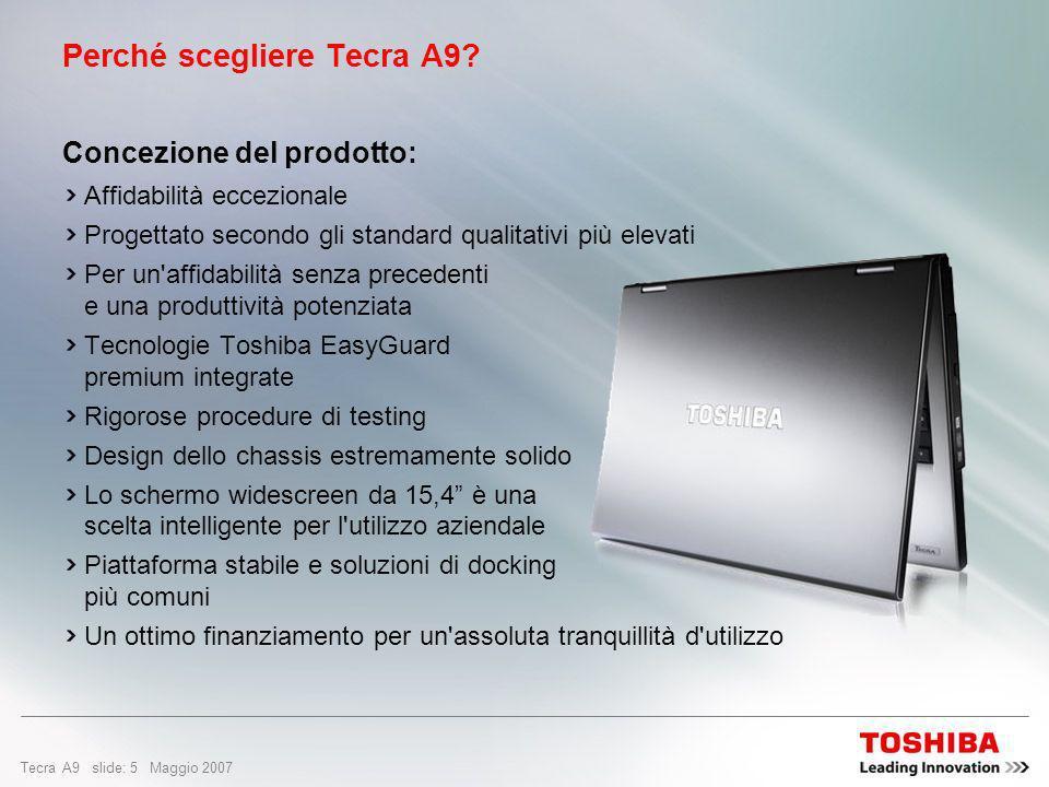 Perché scegliere Tecra A9