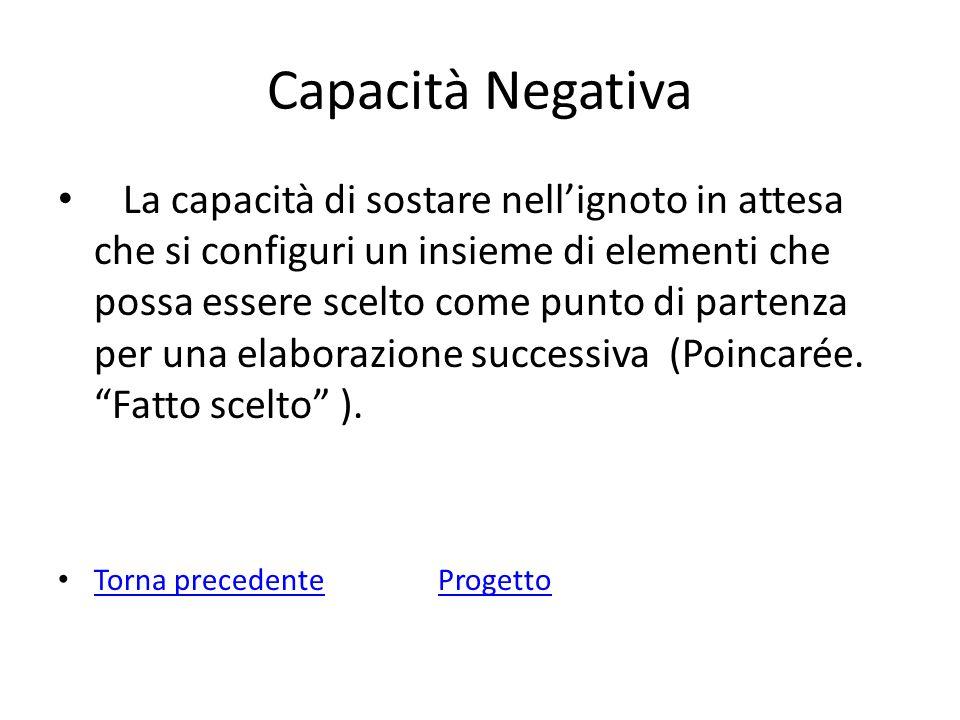 Capacità Negativa